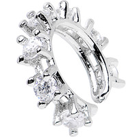 Clear Cubic Zirconia All that Sparkles Ear Cuff | Body Candy Body Jewelry
