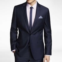 NAVY MICRO TWILL PRODUCER SUIT JACKET