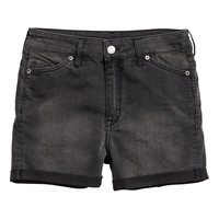 H&M - Denim Shorts - Black - Ladies