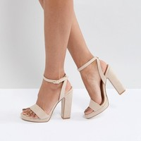 Truffle Collection Slim Platform Sandal at asos.com
