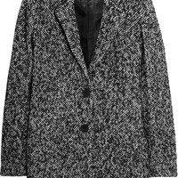 Karl Lagerfeld Orman brushed jacquard coat – 60% at THE OUTNET.COM