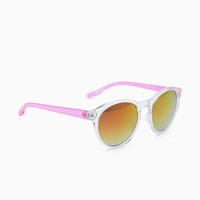 Contrast Temple Clear Frame Revo Clubmaster