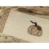 Harvest Pumpkin Table Runner in Cream with Natural Pumpkins - 36-in