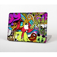 """The Vibrant Colored Vector Graffiti Skin Set for the Apple MacBook Pro 15"""" with Retina Display"""