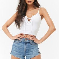 Lace-Up Crop Cami