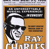 Ray Charles Seattle New Year's Eve 1966 Art Print