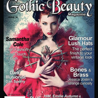 Gothic Beauty Magazine Issue 30 Music interviews with HIM, Emilie Autumn & Faith and the Muse