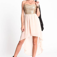 Sequin High Low Dress - LoveCulture