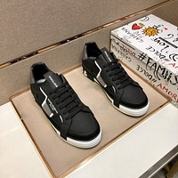 D&G  Men Fashion Boots fashionable Casual leather Breathable Sneakers Running Shoes0421ff