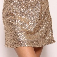 Gold Rush Sequin Mini Skirt - !