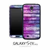 Pink & Blue Dyed Wood Skin for the Galaxy S4