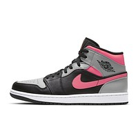"Air Jordan 1 Mid ""Pink Shadow"" sneakers basketball shoes"