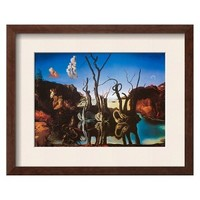 Art.com - Swans Reflecting Elephants, c.1937 Framed Art Print