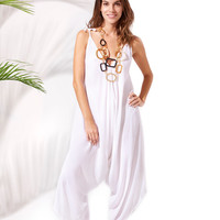Bahama Jumpsuit: White