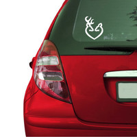 Browning Inspired deer decal for window face to face by SBLDesign