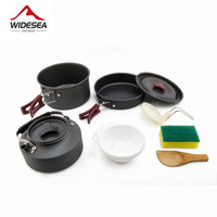 Widesea Camping Outdoor Cookware Cutlery Utensils Hiking Picnic set