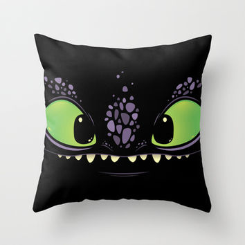 Toothless Throw Pillow by LookHUMAN