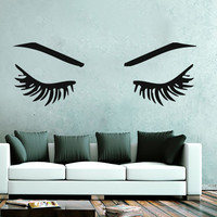 Wall Decal Quote Beauty Salon Make-Up Girl Woman Decals Vinyl Stickers Art LM125