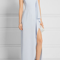 Halston Heritage - Strapless asymmetric crepe gown