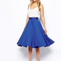 Closet Full Skater Skirt in Scuba - Cobalt blue