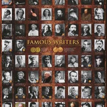 Famous Writers Poster 24x36