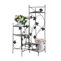 Flower Plant Stands-Iron Staircase  5 Designs
