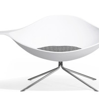 low lotus chair - upholstered seat