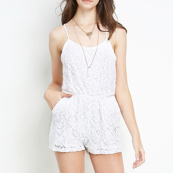 Lace Overlay Romper