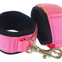 Frisky Deluxe Pink Double Binding Bondage Cuffs