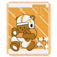 Tennessee Volunteers NCAA Triple Woven Jacquard Throw (Fullback Baby Series) (36x48)