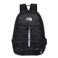 The North Face New fashion embroidery letter couple backpack bag Black