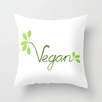 Vegan Throw Pillow by UMe Images