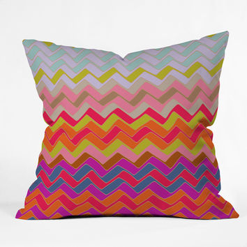 Sharon Turner Geo Chevron Outdoor Throw Pillow