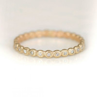 Melanie Casey - 14k Diamond Wedding Band Ring