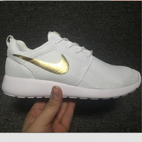 """""""NIKE"""" Trending Fashion Casual Sports Shoes White Golden"""