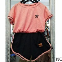 VONEYW7 adidas summer sports women s loose breathable sweat absorbent cotton leisure two piece no 2