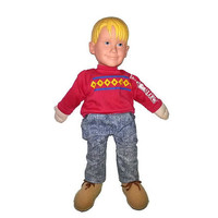 Vintage HOME ALONE Talking Kevin McCallister Doll 1991 Pull String Macaulay Culkin 17 inches Collectible Movie Memorabilia Rare Plush Toy