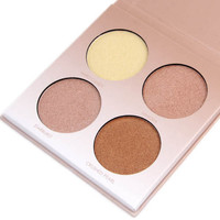 MISS ROSE Brown White Shimmer Face Glow Brighten Concealer Palette Base Minerals Makeup Bronzers Highlighters Contour Powder