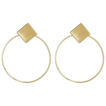 Fashion Women Round Circle Hollow Earrings Sexy Personalized Gift Jewelry