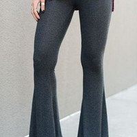 Cher Mink Flare Pants - Charcoal