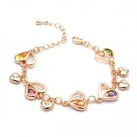 Hearts and Stars Crystal Charm Bracelet - Lilidoo