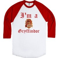 I'm a Gryffindor-Unisex White/Red T-Shirt