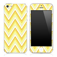 Vintage Yellow Chevron Pattern V5 Skin for the iPhone 3gs, 4/4s or 5