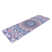 "Iris Lehnhardt ""Summer Lace II"" Circle Purple Yoga Mat"