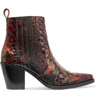 GANNI - Maryse croc-effect leather ankle boots