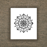 Mandala temporary tattoo, Fashion Tattoo