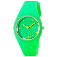 SANDA P131G Women's Analog Sports Watch with Plastic Strap (Green)