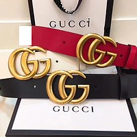 G classic GG letter men's and women's smooth buckle belt
