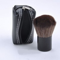 Makeup Brush with  Black Leather Case
