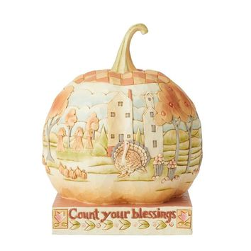Jim Shore HWC Pumpkin W/Scene – 6004322